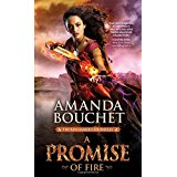 cover art of warrior woman with sword on fire